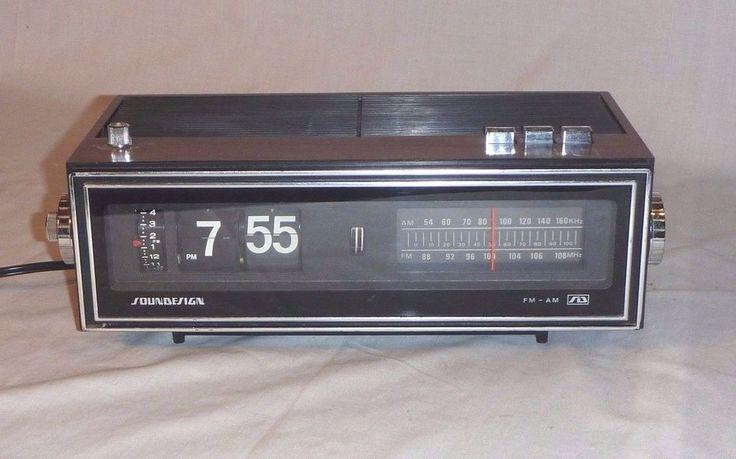 Vintage Soundesign #3480 Flip Alarm Clock AM / FM Radio  #Soundesign