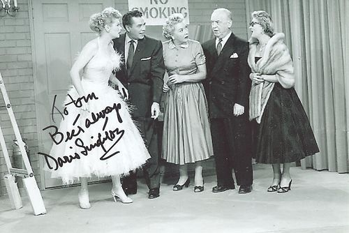Doris Singleton Lucille Ball Lucy Vivian Vance in I Love Lucy Hand Signed | eBay