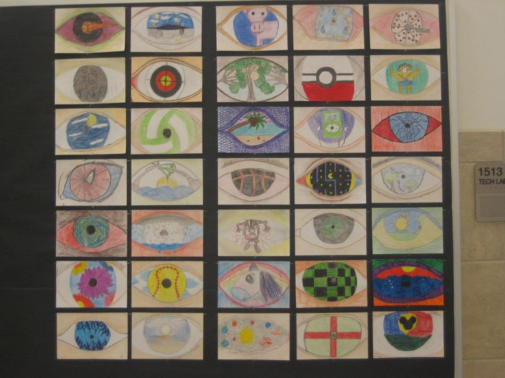 My Art 2 Class did the Magritte Eyes. I had them come up with 5 ideas, then pick 2 of the 5 to complete in full color. After that they all voted on each others with tally marks for 1 of the final 2. Finally they got to complete the eye voted on by the class. I talked about illustrators doing their best, trying to apply for a job... art directors sometimes choosing the idea you don't like... etc. It was a process of elimination. Quick and easy.
