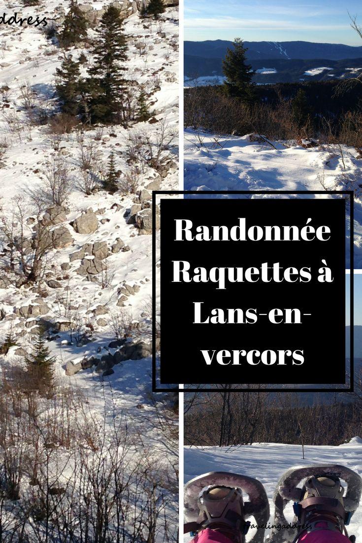 Randonnée en raquettes à Lans-en-vercors, france