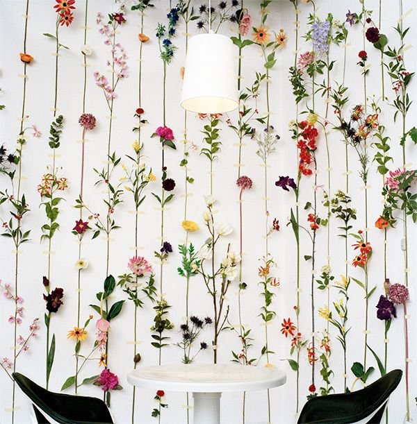 three dimensional floral wall paper by Front Design Group via Plant Propaganda