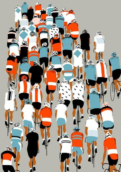 Velo Illustration 087: «Peloton» by Eliza Southwood