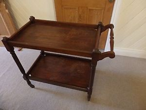Vintage tea/drinks trolley two tiers/shelves Hunter area pick up only Starting bid $40