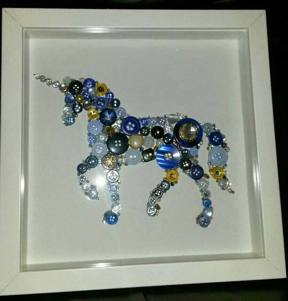 Unicorn button art, £40 via ebay Buy at: http://www.ebay.co.uk/itm/Sparkly-Unicorn-Button-Picture-/322259927102?hash=item4b0830403e:g:3jQAAOSwAuZX1x62