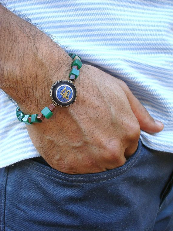 Men's Spiritual Protection Bracelet with by tocijewelry on Etsy, $38.00