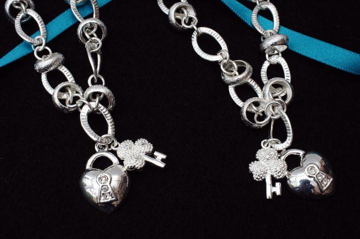 Key to my heart necklace and bracelet 925 silver £12.99 set