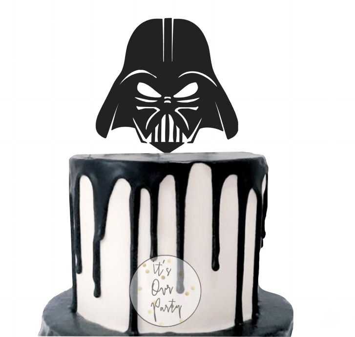 Star wars cupcake toppers, monochrome party, black and white decorations, modern kids party, star wars party, rouge one party, star troopers decorations, cosplay party, darth vader decorations