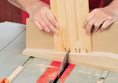 If you like the look of hand-cut dovetails, but don't have time (or patience) for all the meticulous work it takes to create them, then try this table saw method which uses a sliding dovetail sled to cut 90 percent of each joint. The jig cuts dovetails far faster than you can cut them by hand, and you can size the pins and tails and customize their spacing to suit just about any project — join drawer sides, build a box or small chest, etc.
