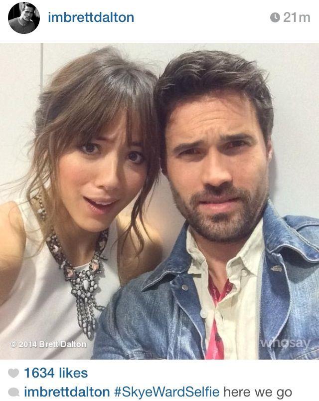 Skyward selfie!!!! Chloe Bennet & Brett Dalton from Agents of SHIELD at San Diego Comic Con 2014
