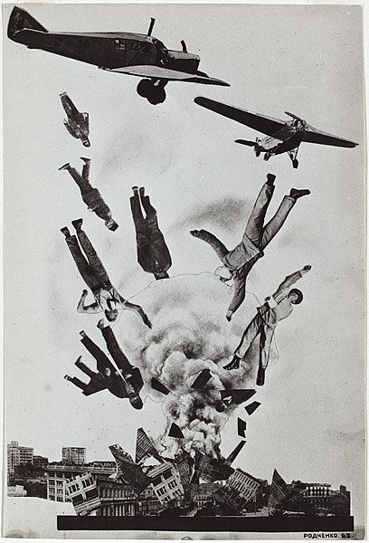 """Krisis,"" by Aleksandr Rodchenko, 1923  ( war / photography / art / collage / russian / soviet / photo montage  )"