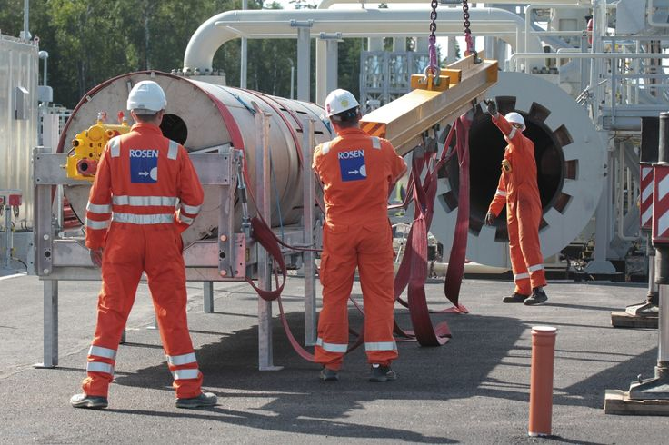 Preparation for the Launch of the Pipeline Inspection pig in Portovaya