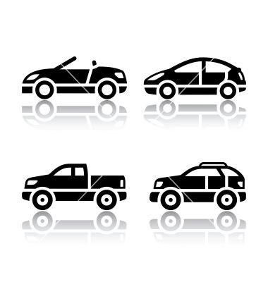 Set of transport icons  cars vector