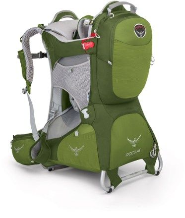 The Osprey Poco AG Plus child carrier channels everything Osprey knows about packs into a carrier that's comfortable, lightweight and easy to adjust for fit, so you can carry a max load of 48.5 lbs. Available at REI, 100% Satisfaction Guaranteed.