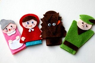 finger puppets red riding hood printable - Google Search