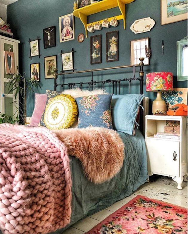Hermosos dormitorios vintage con el metal como pro…