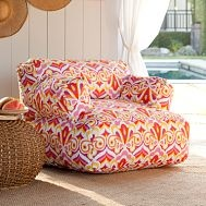 PB Teen's Kaleidoscope Pink Eco Lounger - has my current color palette obsession for spring