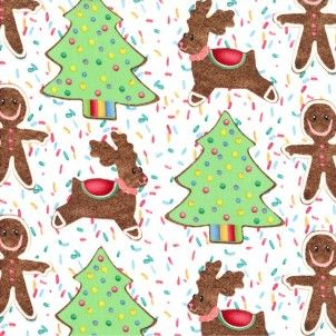 Michael Miller fabric Cookie Cut Outs