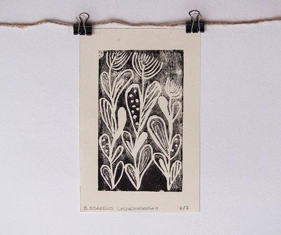 LINOLEOGRAFIA stampa stampa tipografica di fiori di #CoCodeStudio