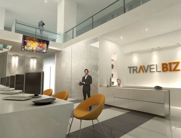 Travel agency office design true world holidays for Small company office design