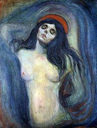 Le tableau <i>La Madone</i> de Munch (photo) avait été dérobé dix ans avant le vol de l'un des exemplaires du fameux <i>Cri</i>.   (Photo: AFP)
