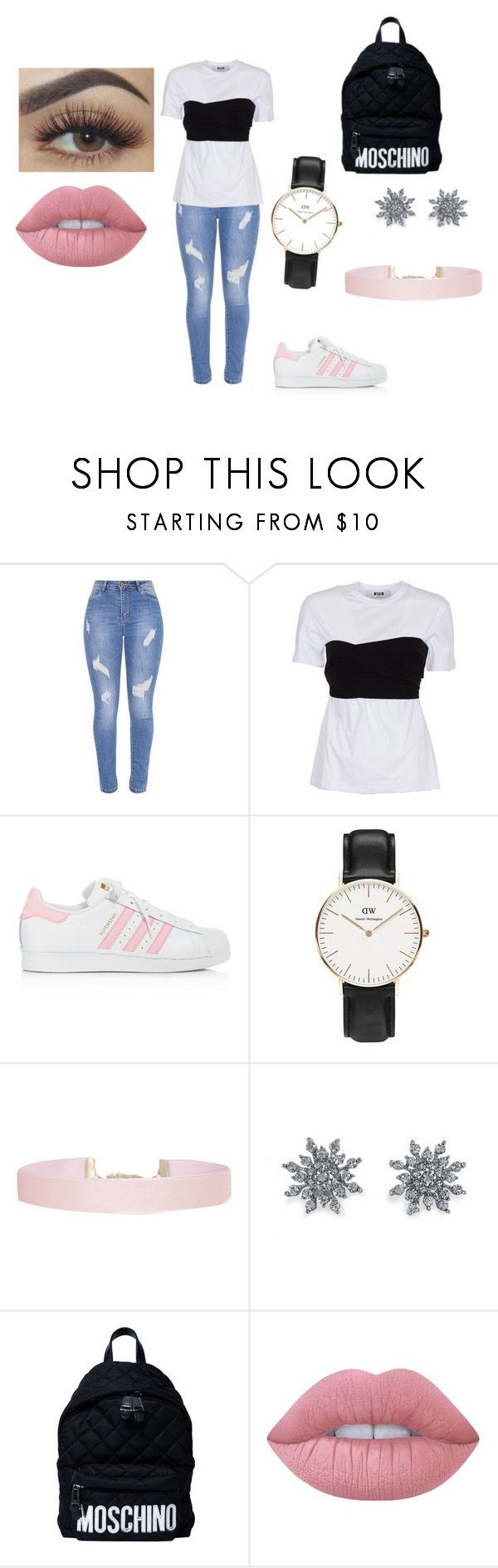 """""""...."""" by kkristinss on Polyvore featuring MSGM, adidas, Humble Chic, Disney, Moschino and Lime Crime"""
