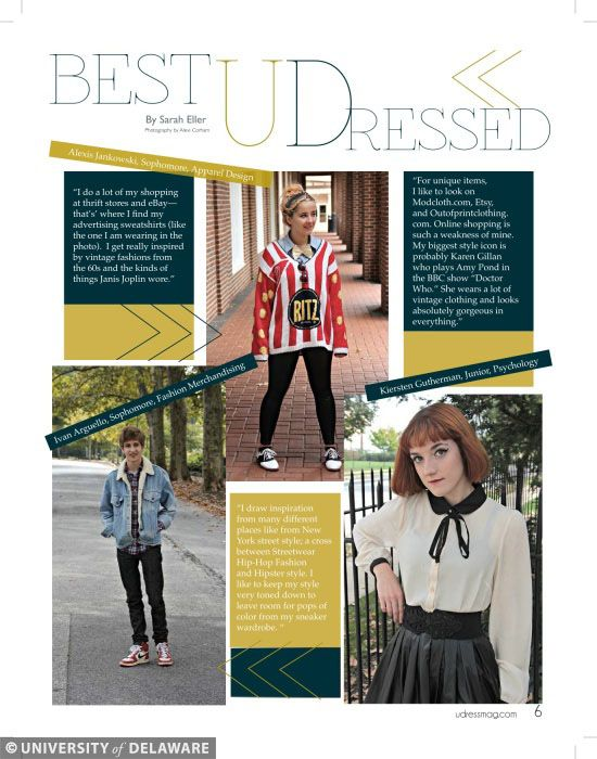Best UDressed spread from an Issue of @UDress Magazine