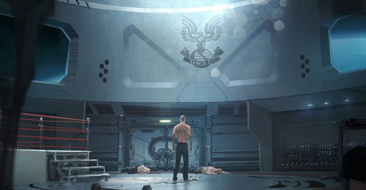 John after his augmentation surgeries and the result of a run in with 3 ODST's. Fall of Reach