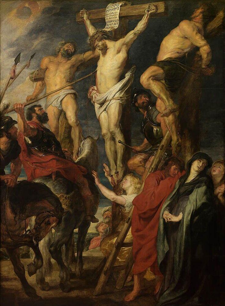 """Christ on the cross, """"The lance"""" / Cristo en la cruz, """"La lanza"""" // 1620 // Peter Paul Rubens // © KMSKA // #Jesus #Calvary"""