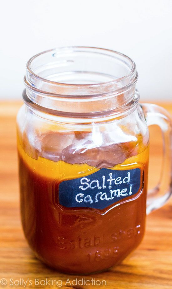 The BEST Salted Caramel Sauce! Recipe by sallysbakingaddiction.com