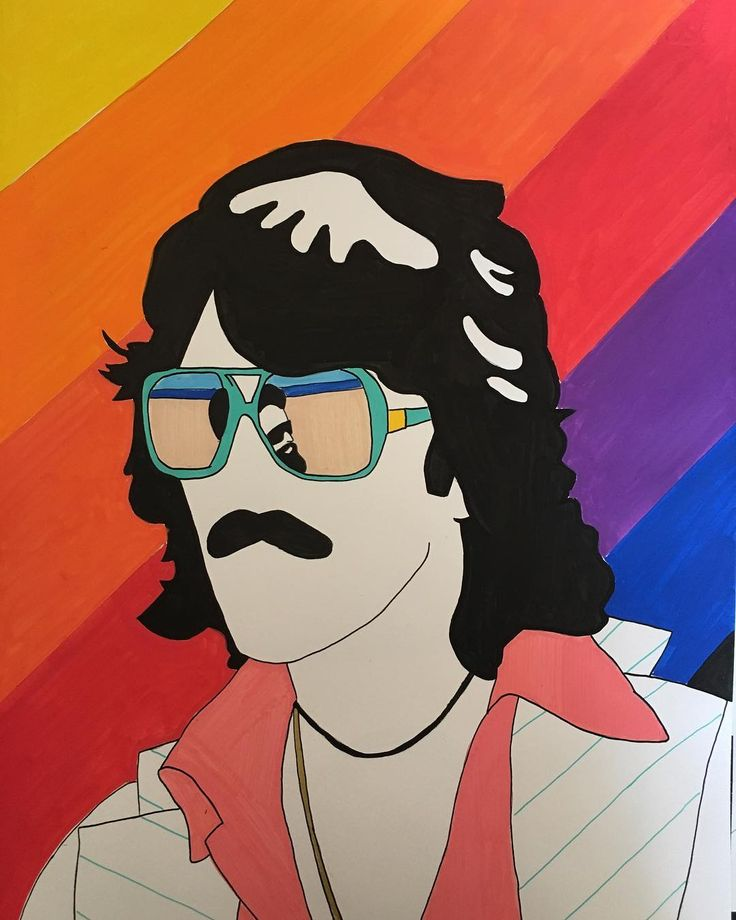 G A M M A - R A Y 🌈 #illustration #drawing #gammaray #colors #georgeharrison #thebeatles #70s #style #fashion #design #art #artwork #minimal #moustache #hairstyle #specs #80s #色 #虹 #音楽 #ファンク #posca #poscart #ポスカ #fabrianopaper #psychedelic #alessiovitelli #2017