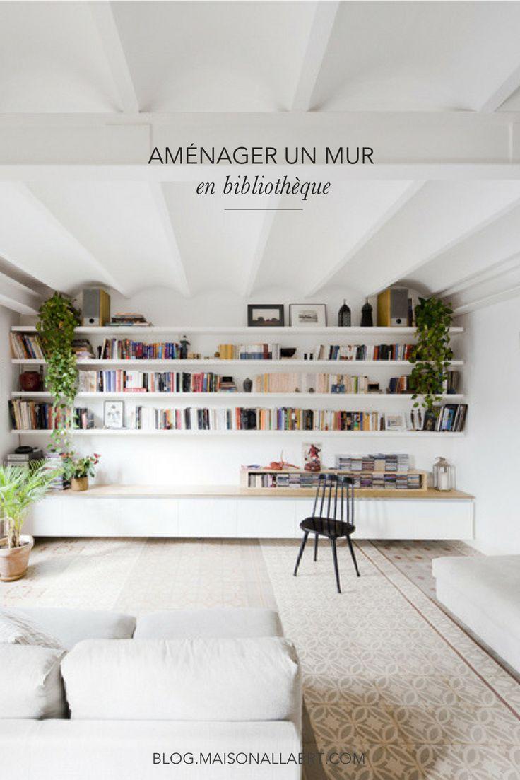 7 conseils pour aménager un mur en bibliothèque | aménager une bibliothèque murale | décorer une bibliothèque #bibliotheque #déco #bibliothèque