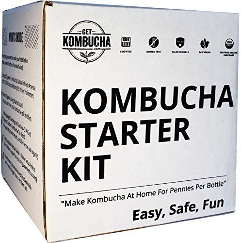 """Organic Kombucha Starter Kit, Stop Buying Store Bought Kombucha Tea And Start Making As Much As You Want! 6.5"""" Organic Scoby, Largest Culture In North America For 9 Straight Years, 5 Gallon Tea Supply Makes 80 Bottles of Kombucha, 180 Day Guarantee ! Get Kombucha http://smile.amazon.com/dp/B00AWJ1Q3Y/ref=cm_sw_r_pi_dp_jR.6wb0J5CNXY"""