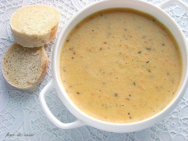Крем-суп из картофеля, моркови и сельдерея