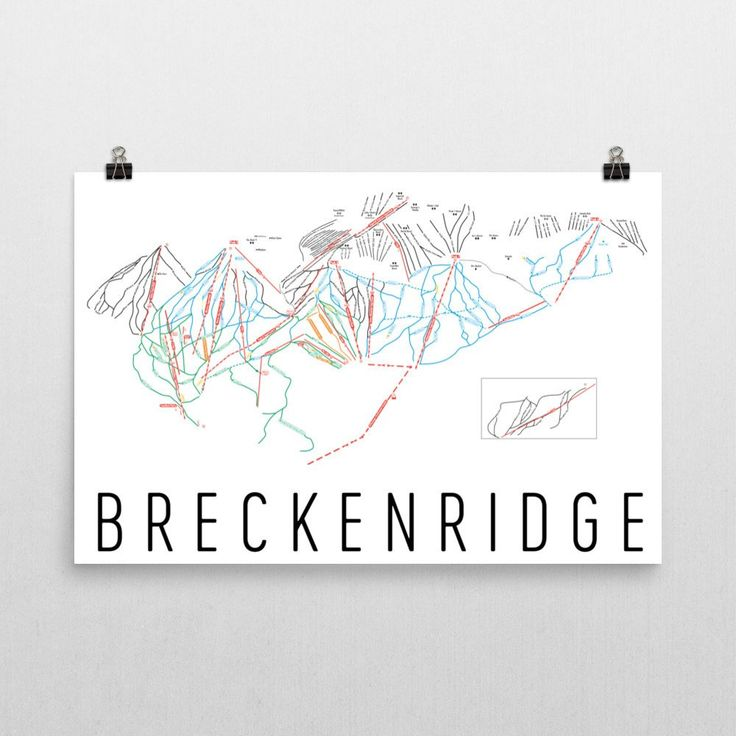 Breckenridge Ski Map Art, Trail Map, Print, Poster From $39.99 - ModernMapArt - Modern Map Art