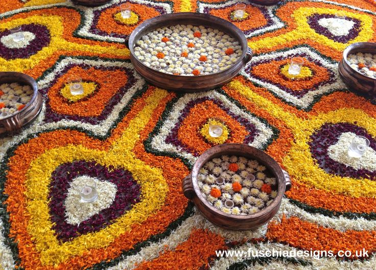 Preparing for Diwali, with dried flower petals by www.fuschiadesigns.co.uk