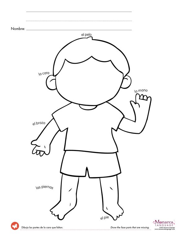 spanish worksheets for kindergarten | great game to keep practicing body parts while boosting your child ...