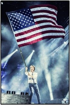 Image result for paul mccartney american flag