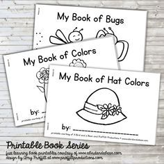 Summer Book Series - Includes 3 different printable books, perfect to color and take with you this summer!