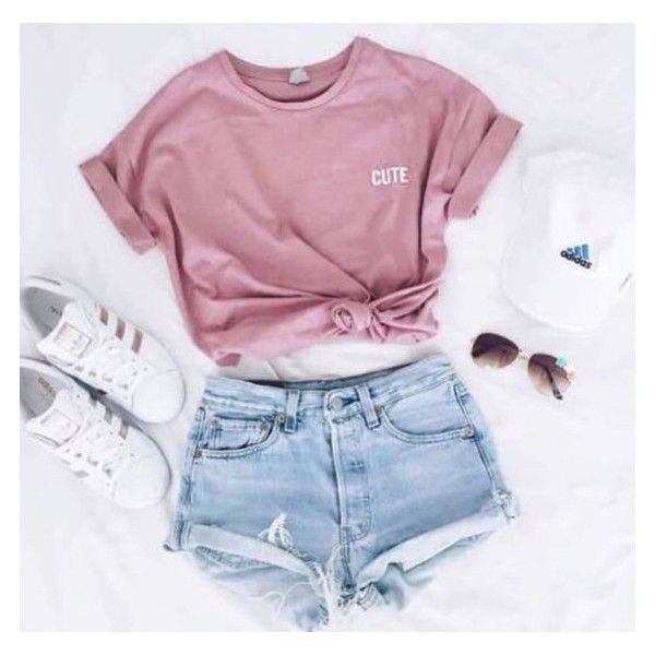 Shirt: t- pink cute adidas superstars adidas cap outfit summer pink t-... ❤ liked on Polyvore featuring tops, t-shirts, t shirt, pink tee, adidas shirt, pastel t shirts and summer tops