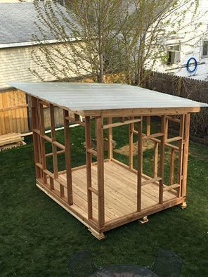 how to build wood shed just the frams