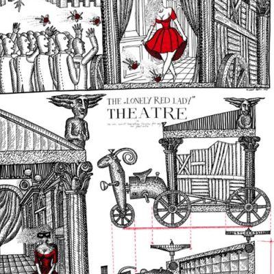 """М.Белов """"...театр одинокой красной дамы..."""""""