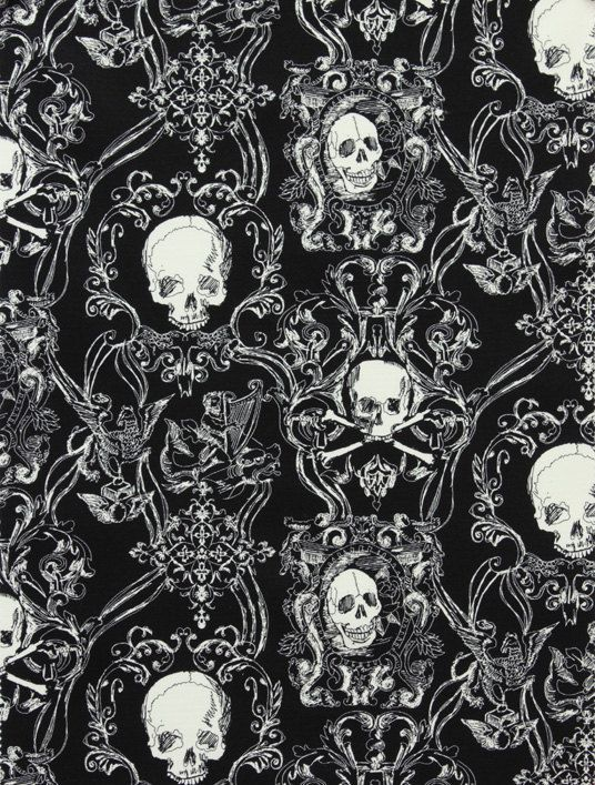 Alexander Henry Fabric Skull Diggery by greatfabricfinds on Etsy