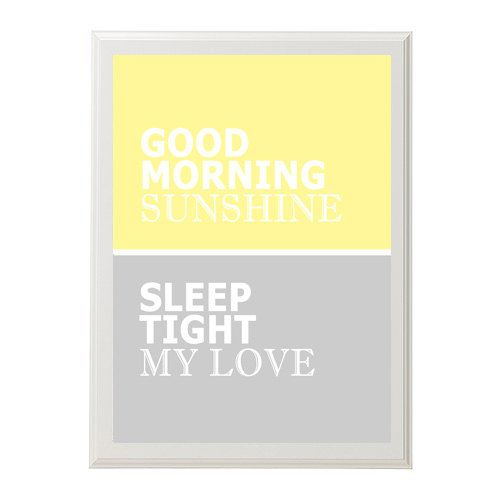 Kids wall art Customizable Good morning sunshine - sleep tight my love - you choose the colors - love - wedding - modern nursery. $26.95, via Etsy.
