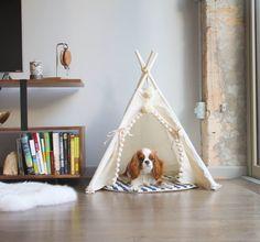 Tipi pour animaux de compagnie avec poteaux et tampon: 4 pôle animal tipi, tipi, tipi, wigwam, petbed, lit pour chien, lit de chat, tipi chat avec socle,