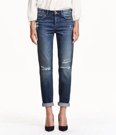 Boyfriend low jeans | Dunkelblau | Damen | H&M AT