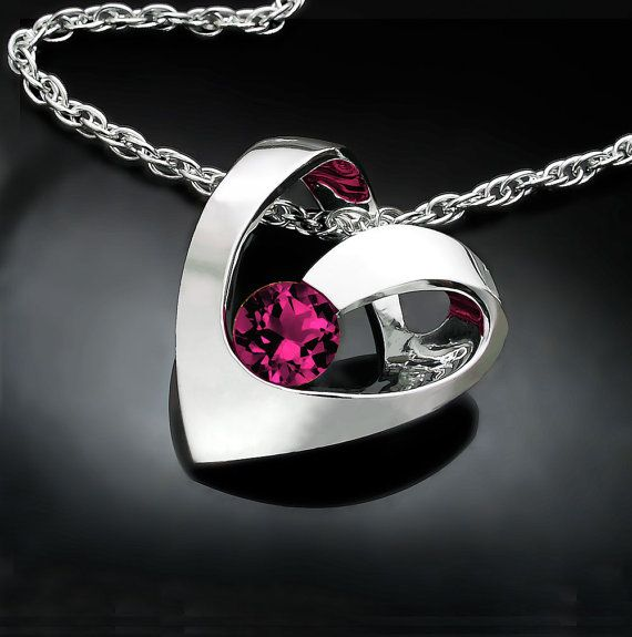 Hey, I found this really awesome Etsy listing at https://www.etsy.com/listing/119353399/garnet-necklace-heart-necklace-january