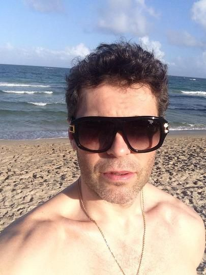 Jaromír Jágr na pláži