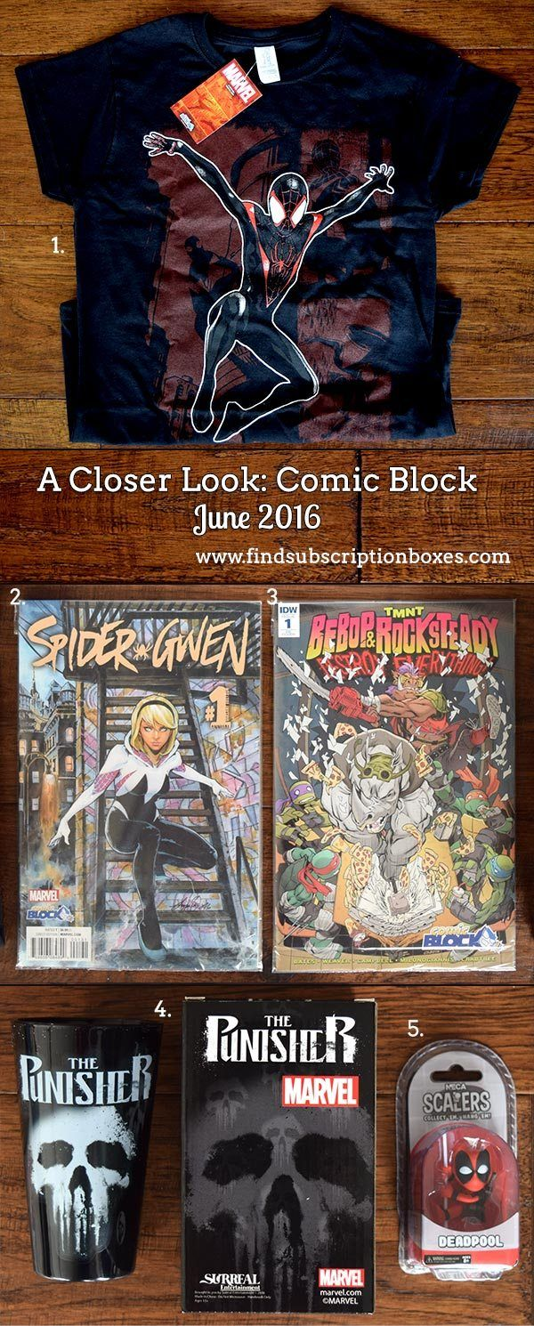 June's Comic Block comic subscription box revealed! Spiderman, Daredevil & more comic goodies were in the box. Check it out! http://www.findsubscriptionboxes.com/a-closer-look/june-2016-comic-block-review-coupon/?utm_campaign=coschedule&utm_source=pinterest&utm_medium=Find%20Subscription%20Boxes&utm_content=June%202016%20Comic%20Block%20Review%20%2B%20Coupon  #comicblock