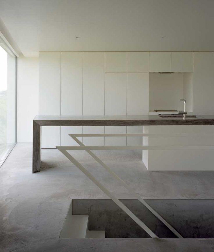Kawabe no sumika: Riverbank Houses, Ma Style, Minimalist Kitchen