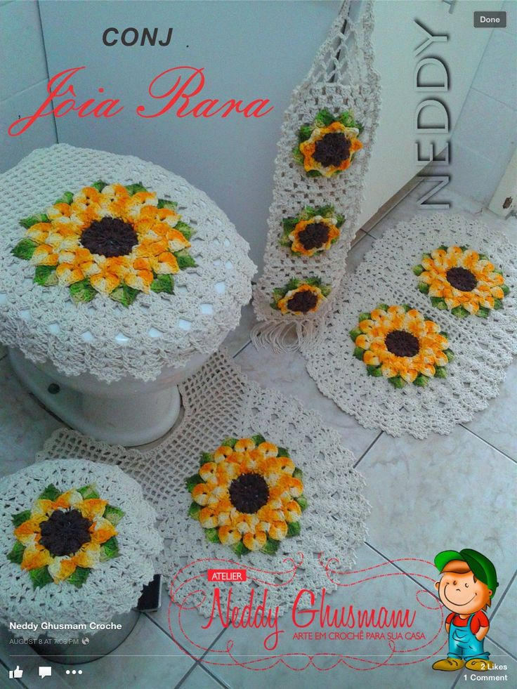 913 best jogo de banheiro images on pinterest crochet for Patakha bano food mat